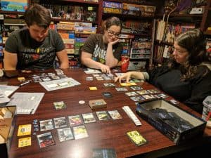 Playing a game of Race for the Galaxy using the first three expansions