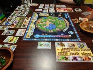 Terraforming Mars expansion Elysium and Hellas in play