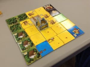 Kingdomino a light family tile laying game.