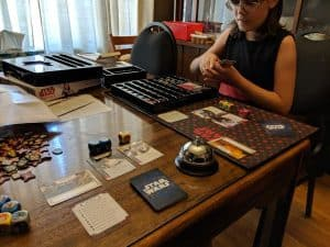 Playing Star Wars Destiny with my daughter