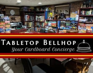 The Tabletop Bellhop game room, welcome to our dungeon, our man-cave our place to play boardgames