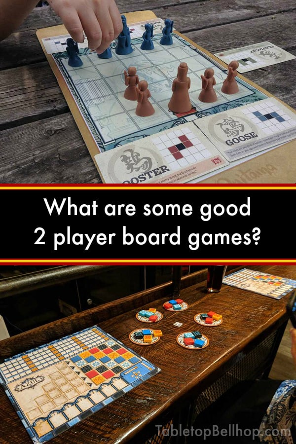 What are some of the best board games out there for two players? (Hint: It's a deceptively HUGE question with a detailed answer, including over fifty 2 player board game recommendations.) #TabletopBellhop #boardgames