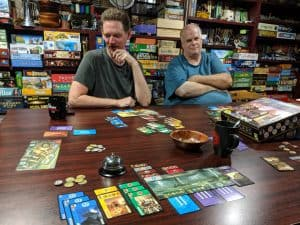 When you have a big group the best board game you can grab is 7 Wonders