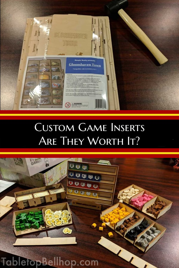 Are custom box inserts worth it? A discussion on board game box inserts, what they are good for, where to buy them and tips on how to build them. Do you need one for your boardgame? #TabletopBellhop #boardgames #tabletop