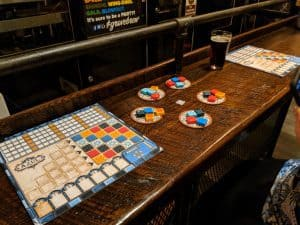 Azul is a great date night board game. It plays just as well with two players as with four