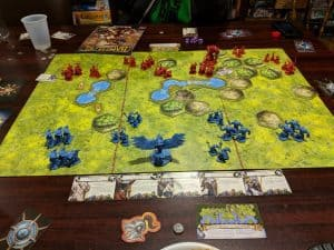 Battlelore is a fantastic modern wargame using the Command and Colors system