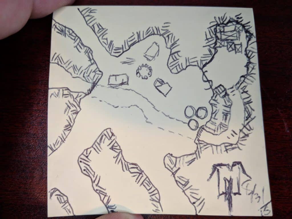 Hand drawn map for #FridayFiveMinuteMap