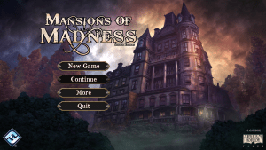 Screenshot of the Fantasy Flight Games Mansions of Madness Board game app.