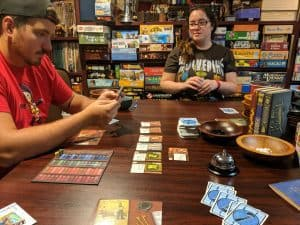 Hardback is the follow up to Papreback the word building deck building boardgame.