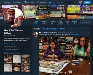 The Tabletop Bellhop sharing everything on Twitter