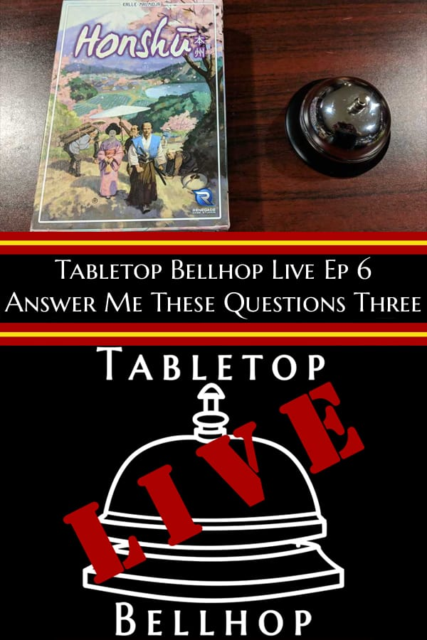 Episode 6 - Answering three game recommendation questions #Podcast #BoardGamePodcast #GameRecommendations #TabletopBellhop #boardgames #tabletop