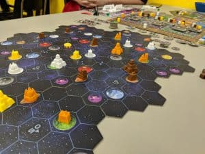 The board state near the end of Gaia Project