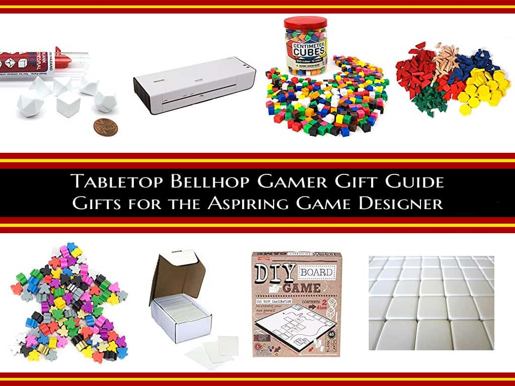 Gifts for board game lover that aren't games. A list of items for the aspiring game designer. #GiftGuide #GameDesigner #Prototyping #RPG #Boardgame #TabletopBellhop #roleplaying #tabletop