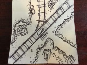 Abandoned Mine Intersection for #FridayFiveMinuteMap