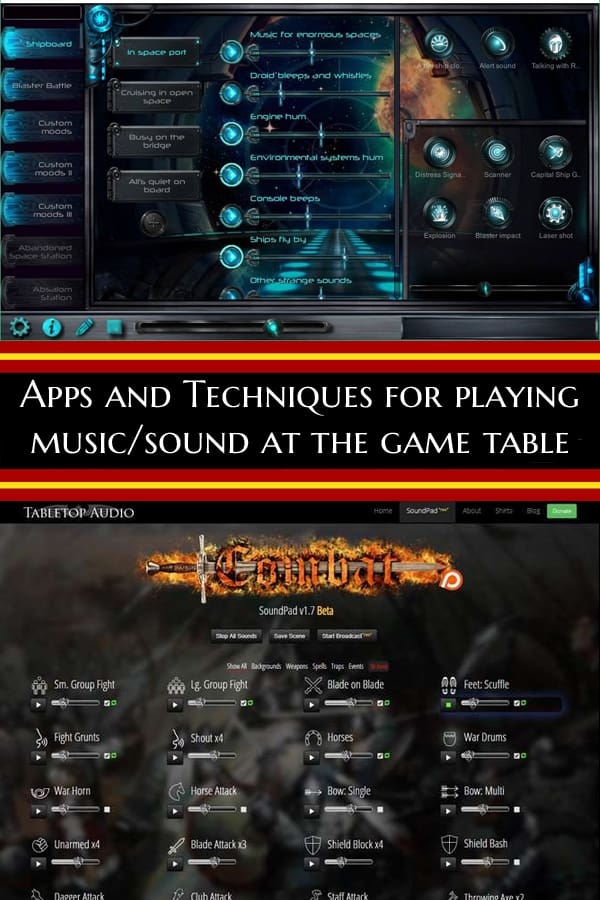 Tips for using music/sound at the game table. #Advice #GamingAdvice #SoundAtTheTable #TabletopBellhop #boardgames #tabletop