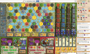 Terra Mystica a fantastic asymmetric player power board game.