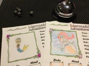 Drawings of two characters for Mermaid Adventures by Eloy Lasanta