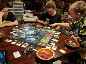 XCOM the Board game from fantasy flight games. A cooperative version of the X-Com video game