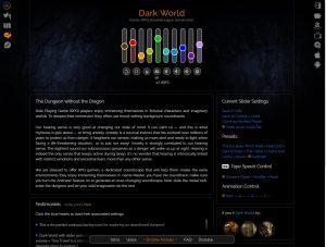 myNoise is a great site for playing ambiance sounds and music.