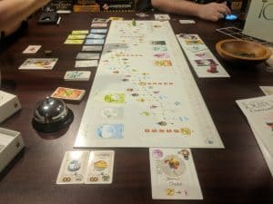 Starting up a game of Tokaido a fantastic board game about traveling in Japan