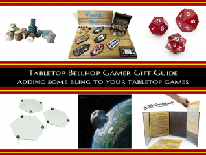 Gamer Gift Guide Bling - Must have tabletop gaming accessories - Ask The Bellhop