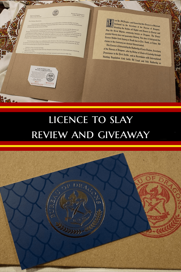 Win your own Licence to Slay from the Bureau of Dragons #Giveaway #LicenceToSlay #RPG #GamerBling #TabletopBellhop #boardgames #tabletop