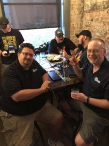 Phil and other awesome gamers at Brewcadia for Origins 2018