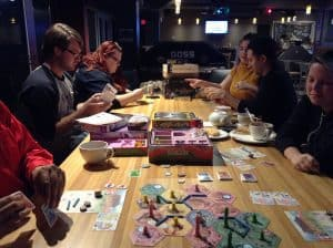 Takenoko that panda game being played downtown Windsor.