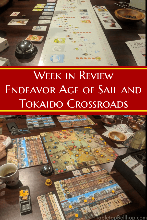Initial thoughts on the board games Endeavor Age of Sail and the Crossroads Expansion for Tokaido #Review #FirstThoughts #Endeavor #Tokaido #WhatDidyouPlayMondays #TabletopBellhop #boardgames #tabletop