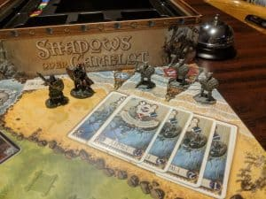 Shadows Over Camelot fighting the Saxons. Is all lost?