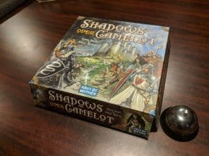 The box for Shadows Over Camelot is not holding up to the test of time.