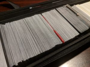 Sleeved cards from Star Reams stored in a Quiver card carrying case.