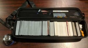 My Quiver Card Carrying Case filled with cards. Both sleeved and not.