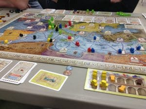 A picture of the board game Concordia.