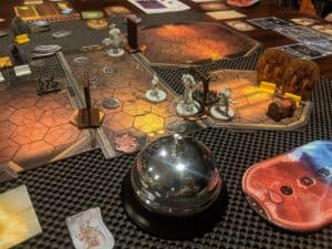 Playing Gloomhaven with four player.