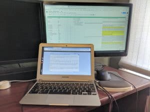 The Samsun Chromebook I've been using to work this past weekend.
