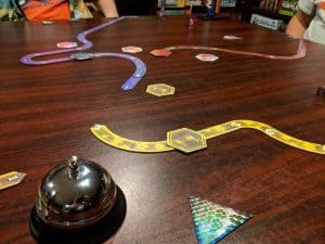 Three player Lazer Ryderz the Tron light cycle board game.