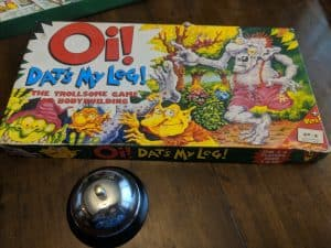 The box for the kids game Oi! Dat's My Leg by Games Workshop released in 1989