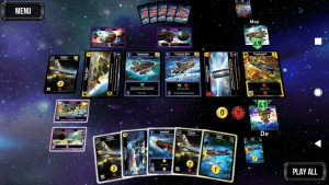 Screenshot of the Star Realms app. A fantastic digital implementation of the card game.