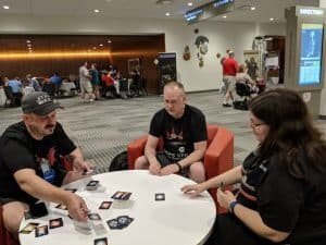 The Mind from Pandasaurus being played at Origins Game Fair.