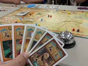 My hand of cards in the board game ZhanGuo