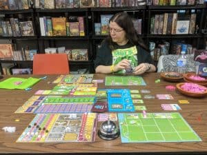 Learning Dinosaur Island Xtreme Edition being played at the FLGS