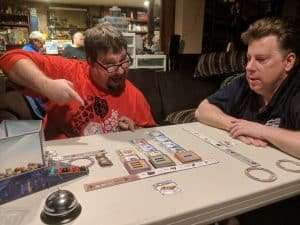 Excited gamer playing Gizmos from CMON