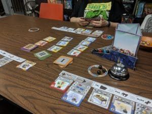 Gizmos being played and taught at the FLGS