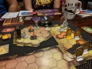 Gloomhaven improved with 3d prepainted scenery from Wizkids.