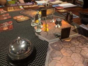 The start of mission 5 in Gloomhaven.