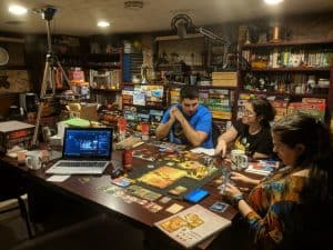 Every Friday at 8:30pm Eastern we live stream our games of Gloomhaven.