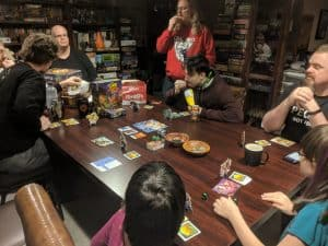 Game night party featuring King of Tokyo
