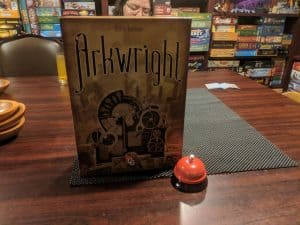 Arkwright from Capstone Games. Game box front.