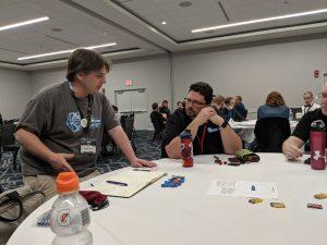 Chris Sniezak teaching his new RPG Sequence